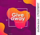 giveaway time banner template... | Shutterstock .eps vector #1792078997