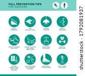 senior fall prevention tips... | Shutterstock .eps vector #1792081937