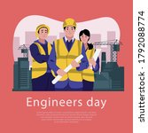 15 september happy engineer's... | Shutterstock .eps vector #1792088774