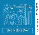 15 september happy engineer's... | Shutterstock .eps vector #1792088777