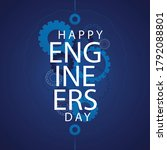 15 september happy engineer's... | Shutterstock .eps vector #1792088801