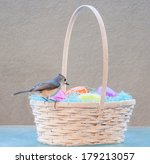 Easter Basket With Live Wild...