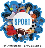 sport equipment concept color...   Shutterstock .eps vector #1792131851