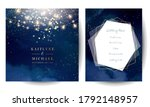 magic night dark blue cards... | Shutterstock .eps vector #1792148957