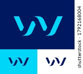 w letter as volume bent figure. ...