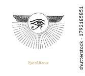 eye of horus  vector...   Shutterstock .eps vector #1792185851