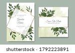 elegant wedding invitation card ... | Shutterstock .eps vector #1792223891
