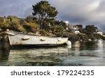 Old Boat In The Port In France...