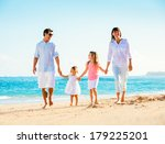 happy family having fun walking ... | Shutterstock . vector #179225201