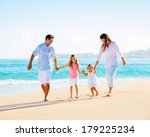 happy family having fun walking ... | Shutterstock . vector #179225234