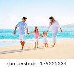 happy family having fun walking ... | Shutterstock . vector #179225234