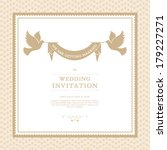 vector wedding card or... | Shutterstock .eps vector #179227271