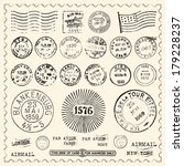 vintage stamps set   set of... | Shutterstock .eps vector #179228237