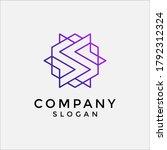 s tech hexagon logo. abstract...   Shutterstock .eps vector #1792312324