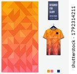 orange gradient geometry shape... | Shutterstock .eps vector #1792314211