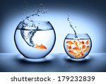 goldfish jumping   improvement... | Shutterstock . vector #179232839