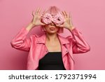 Fashionable Woman Has Pink...