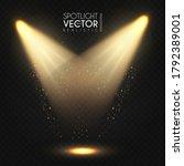 spotlight. transparent light... | Shutterstock .eps vector #1792389001