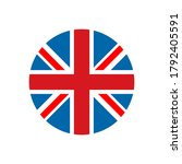 united kingdom flag round icon. ... | Shutterstock .eps vector #1792405591