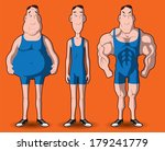 body transformation. the... | Shutterstock . vector #179241779