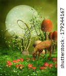 Fantasy Green Meadow With A...