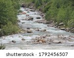 River At Himalayan Mountain...