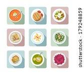 various vegetarian meals in... | Shutterstock .eps vector #179248859