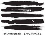 set of vector grunge brushes.... | Shutterstock .eps vector #1792499161