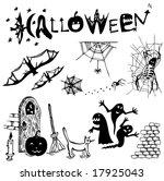 halloween elements. | Shutterstock .eps vector #17925043