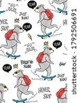 cool bear skateboarding with...   Shutterstock .eps vector #1792506691