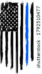 thin blue line. flag with... | Shutterstock .eps vector #1792510477