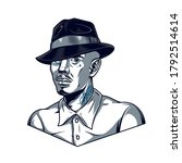 vintage template of man in... | Shutterstock .eps vector #1792514614