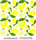 lemon pattern | Shutterstock .eps vector #179252105