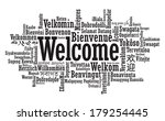 welcome tag cloud in vector... | Shutterstock .eps vector #179254445