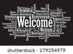 welcome tag cloud illustration | Shutterstock . vector #179254979
