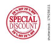 special discount grunge stamp...   Shutterstock .eps vector #179258111