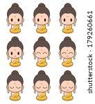buddhist monk cartoon ... | Shutterstock .eps vector #179260661