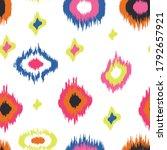 ikat seamless pattern design... | Shutterstock .eps vector #1792657921