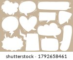 hand drawn background set of...   Shutterstock .eps vector #1792658461