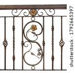 detail of vintage wrought iron... | Shutterstock . vector #1792665397