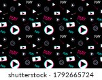 seamless pattern with video...