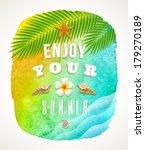 watercolor background banner... | Shutterstock .eps vector #179270189