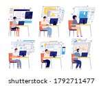 programmers and developers.... | Shutterstock .eps vector #1792711477