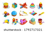 toys isometric. colored... | Shutterstock .eps vector #1792717321