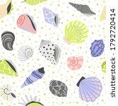 decoration seashells seamless...   Shutterstock .eps vector #1792720414