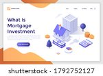 landing page template with... | Shutterstock .eps vector #1792752127