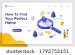landing page template with... | Shutterstock .eps vector #1792752151