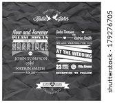 wedding invitation | Shutterstock .eps vector #179276705