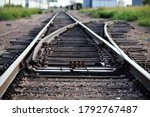 Railroad Track Switch Point On...