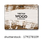 vector old wooden rectangular... | Shutterstock .eps vector #179278109